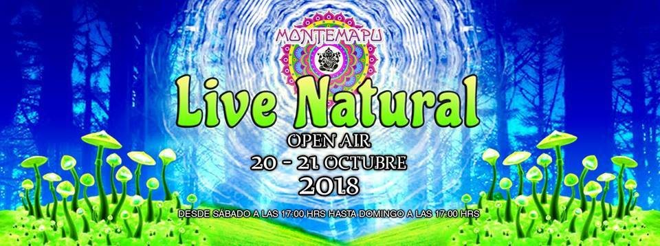 Party Flyer Live Natural 2018 - Open Air 20 Oct '18, 16:00