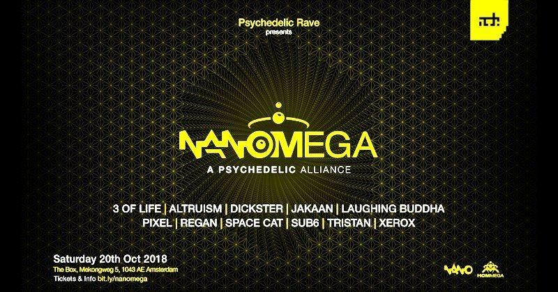 Party Flyer Psychedelic Rave: NanOMega! 20 Oct '18, 21:00