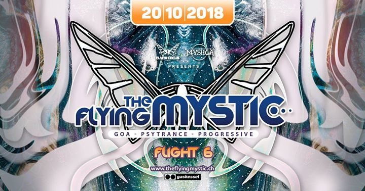 Party Flyer The Flying Mystic - Flight 6 - 20 Oct '18, 22:00