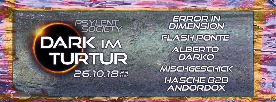 Party Flyer Dark im Turtur 26 Oct '18, 23:00