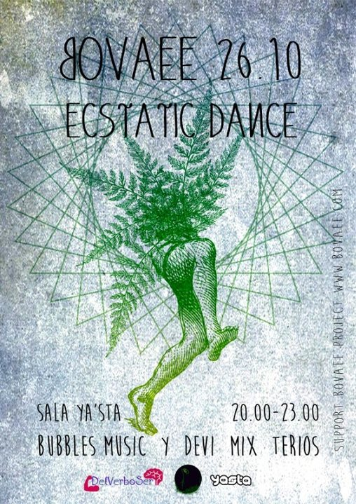 Party Flyer Ecstatic Dance Bovaee 26 Oct '18, 20:00