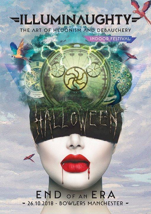 Party Flyer IllumiNaughty presents: END OF AN ERA! Halloween Indoor Festival 26 Oct '18, 21:00