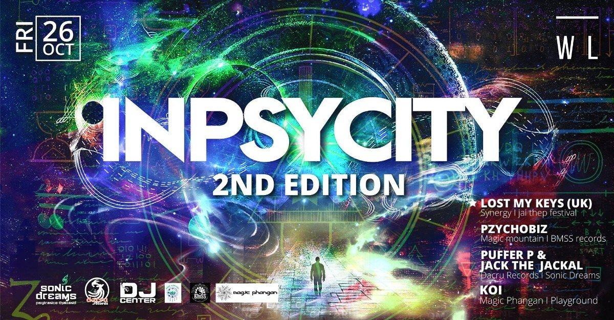 Party Flyer Inpsycity 26 Oct '18, 21:00
