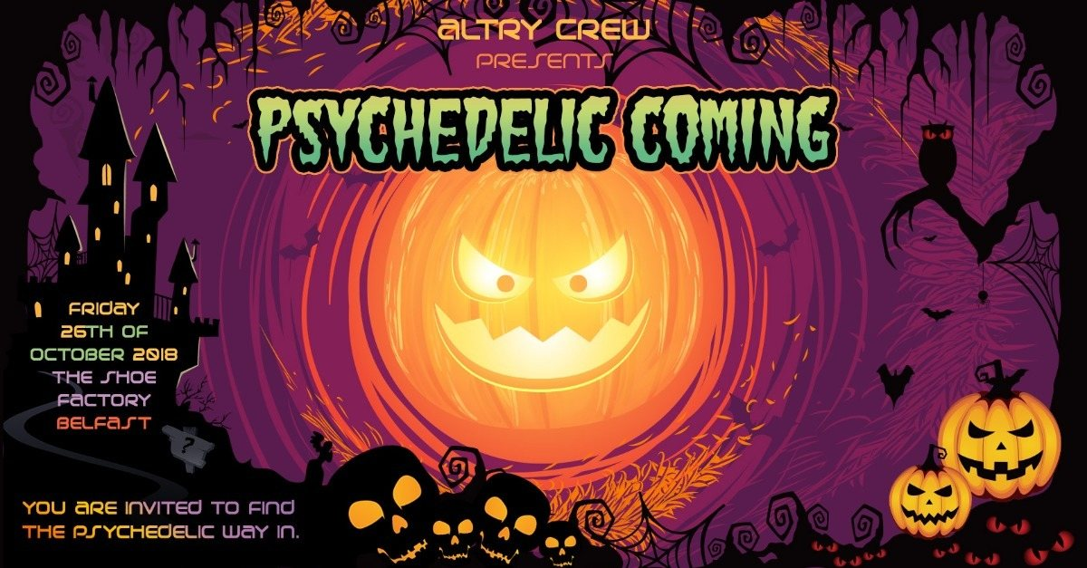 Party Flyer Psychedelic Coming! 26 Oct '18, 22:00