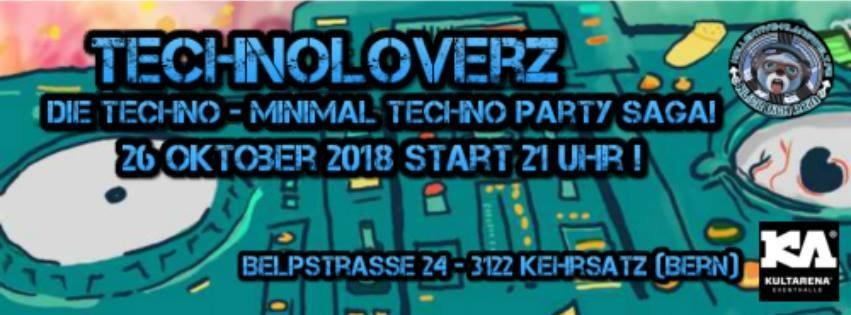 Party Flyer TechnoLoverZ - Techno - Minimal Techno 26 Oct '18, 21:00