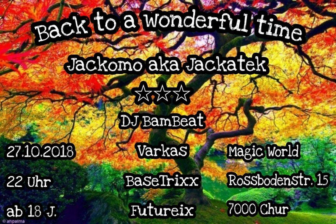 Party Flyer ॐBack to a wonderful timeॐ with Jackomo aka Jackatek 27 Oct '18, 22:00