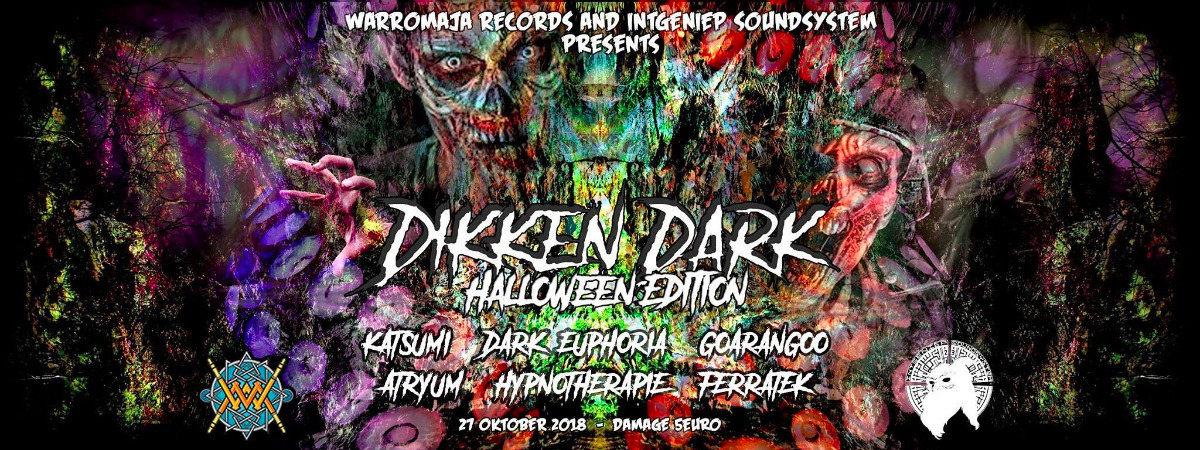 Party Flyer Dikken Dark: Halloween edition 27 Oct '18, 22:00
