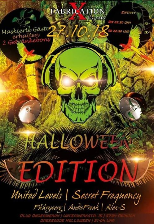 Party Flyer Fabrication XL Halloween Edition 27 Oct '18, 21:00
