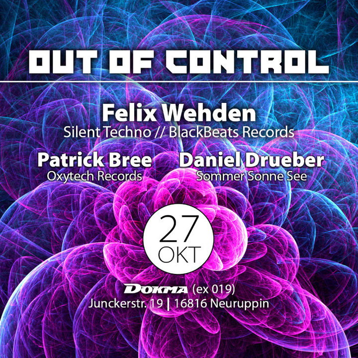 Party Flyer Out of Control 27 Oct '18, 22:00