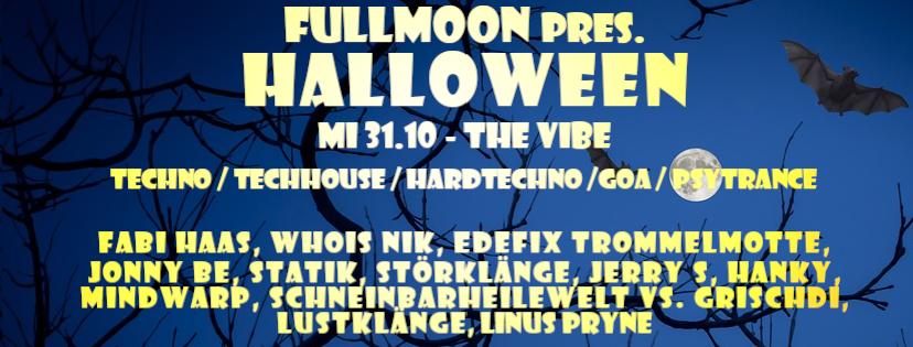 Party Flyer Fullmoon pres. Halloween 31 Oct '18, 22:00