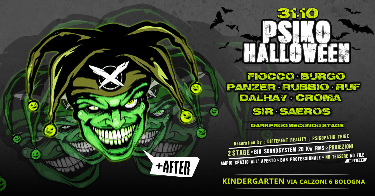 Party Flyer PSIKO Halloween by Psikopatik Tribe 31 Oct '18, 22:00