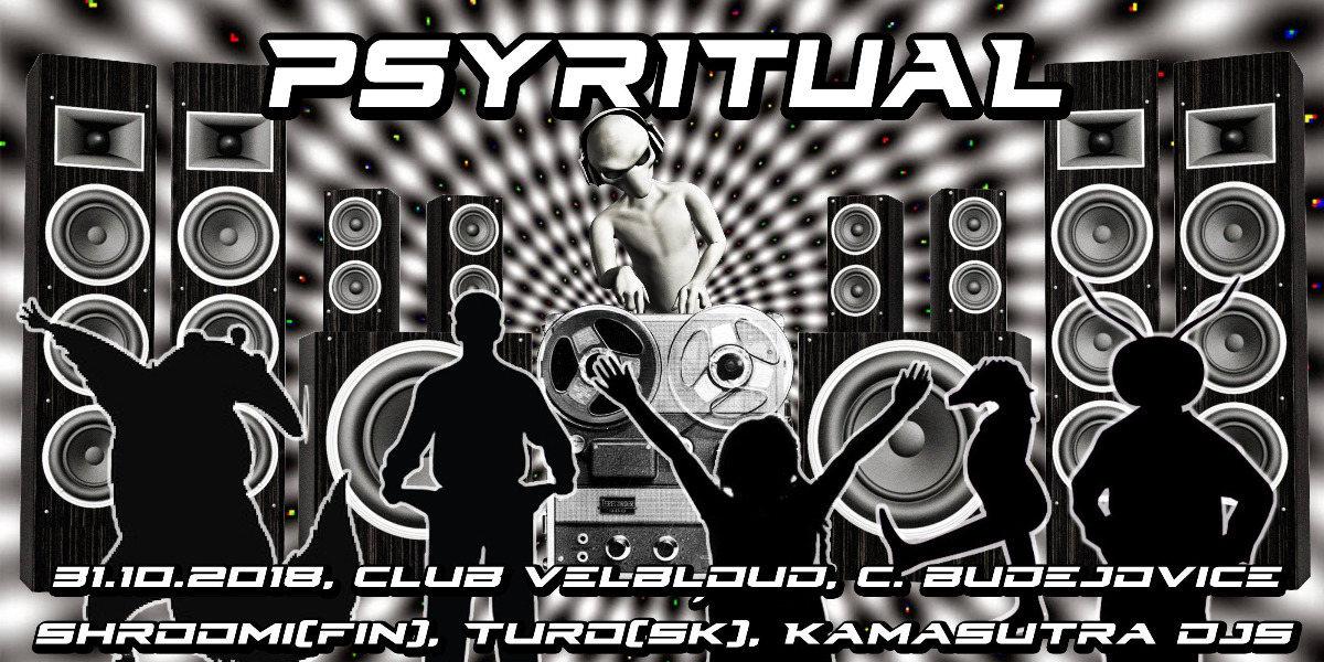Party Flyer Psyritual w/ Shroomi, Turo 31 Oct '18, 21:00
