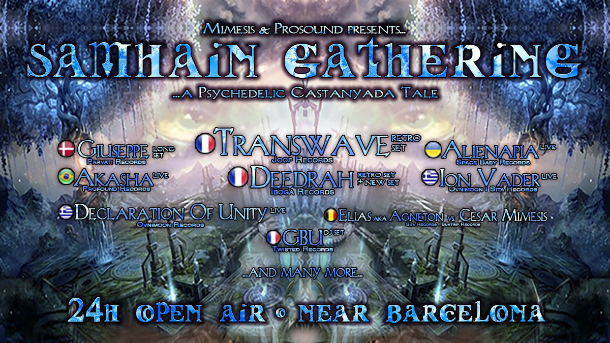 Party Flyer Samhain Gathering 2018 - A Psychedelic Castanyada Tale 31 Oct '18, 18:00
