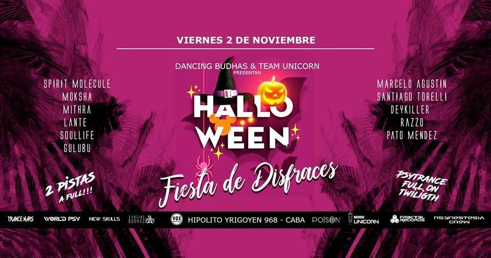 Party Flyer Dancing Budhas & Team Unicorn presents Psy Halloween 2 Nov '18, 23:30