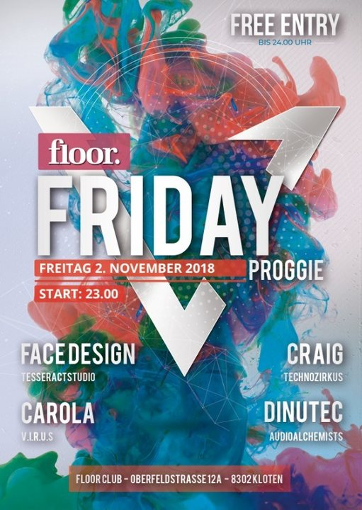 Party Flyer Floor Friday 2 Nov '18, 23:00