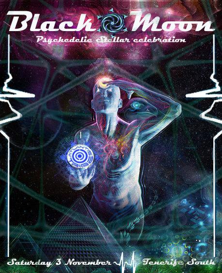 Party Flyer BLACK MOON , PSYCHEDELIC STELLAR CELEBRATION 3 Nov '18, 22:00