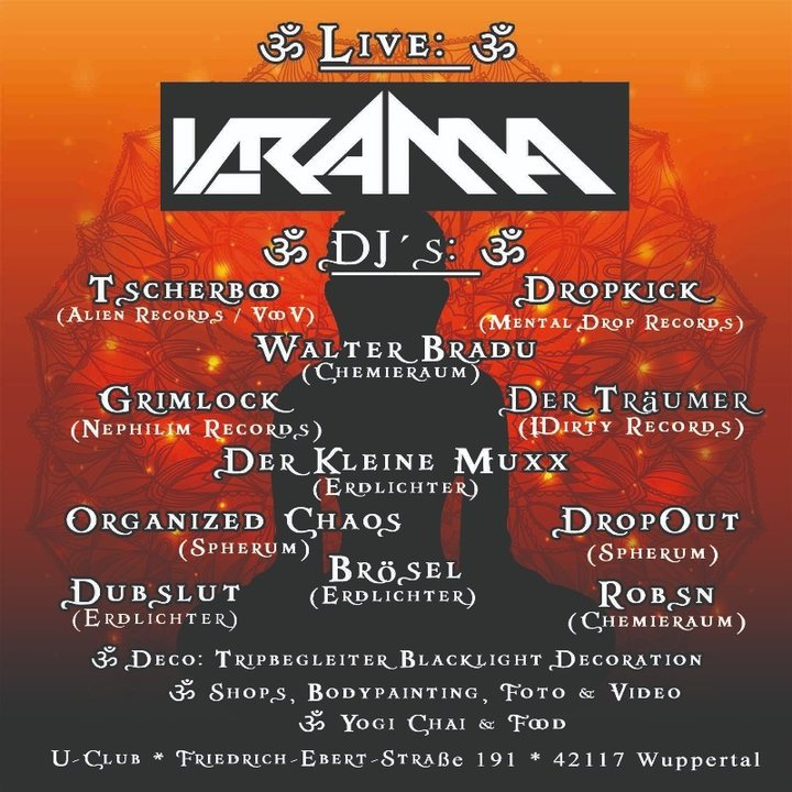 Party Flyer ॐ Organic Atmosphere ॐ Live: KRAMA (Spintwist / Griechenland) 3 Nov '18, 22:00