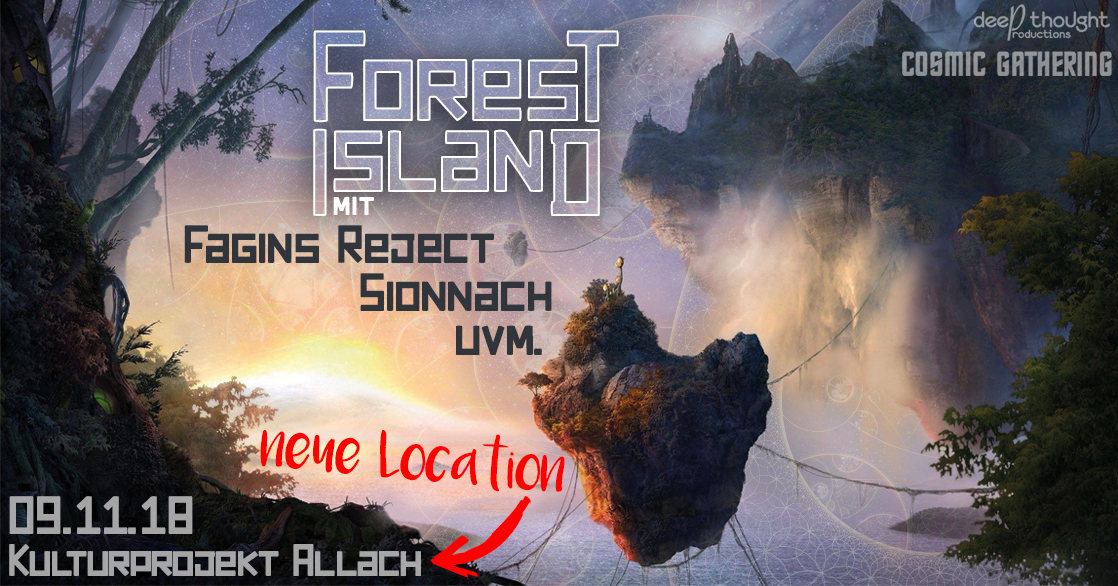 Party Flyer Forest Island 9 Nov '18, 22:00