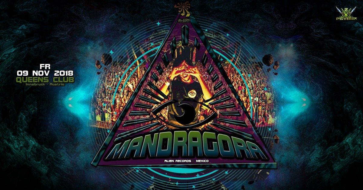 Party Flyer Psybox pres. Mandragora *live 9 Nov '18, 22:00