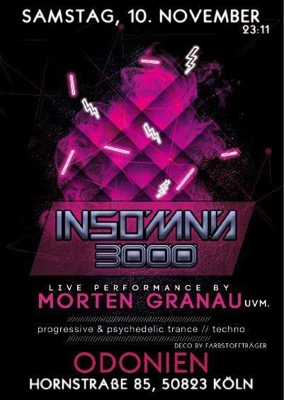 Party Flyer Insomnia 3000 / Progressive Psy Selection / Morten Granau uvm. 10 Nov '18, 23:00