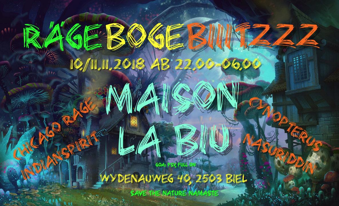 Party Flyer Maison La Biu 10 Nov '18, 22:00