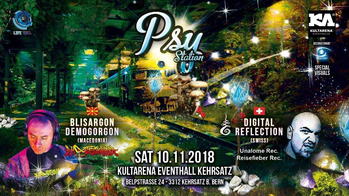 Party Flyer Psy Station 10 Nov '18, 21:00