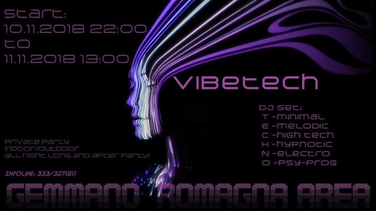 Party Flyer Vibe tech 1.0 10 Nov '18, 23:00