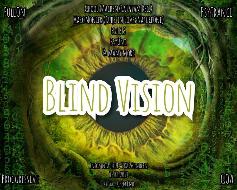 Party Flyer Blind Vision 16 Nov '18, 21:00