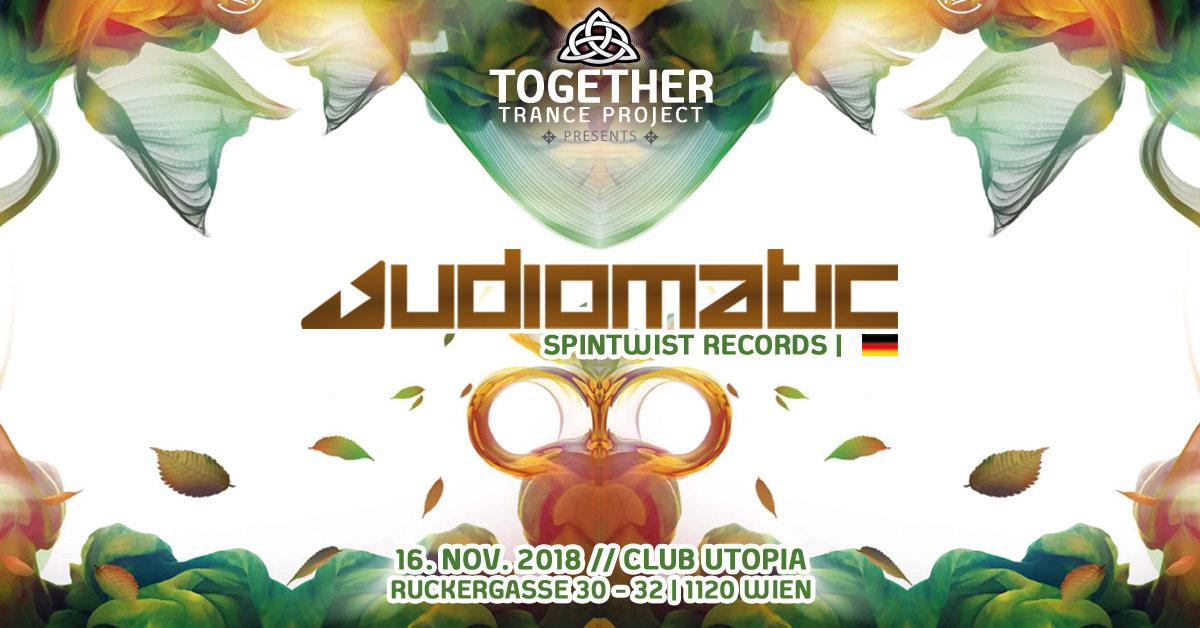 "Party Flyer Club Utopia Reunion mit Audiomatic - ""Psytrance Special"" 16 Nov '18, 22:00"