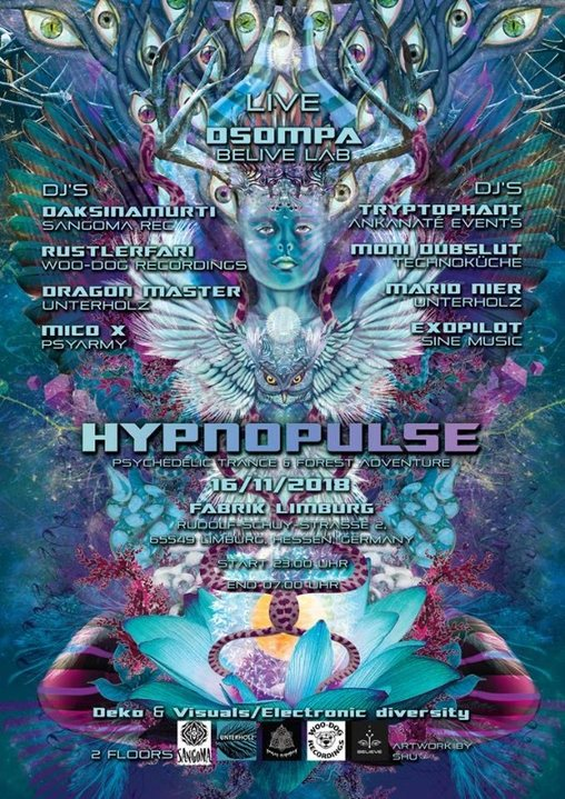 Hypnopulse - Psychedelic Trance & Forest Adventure at Fabrik Limburg 16 Nov '18, 23:00