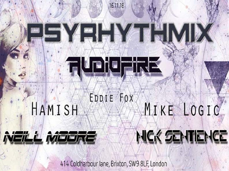 Party Flyer Psyrhythmix Pres. Audiofire 16 Nov '18, 23:00