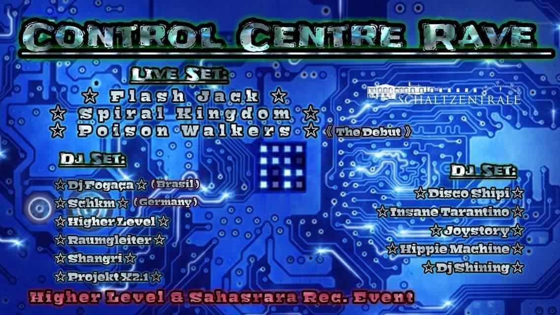 Party Flyer ControlCentreRave 17 Nov '18, 22:00