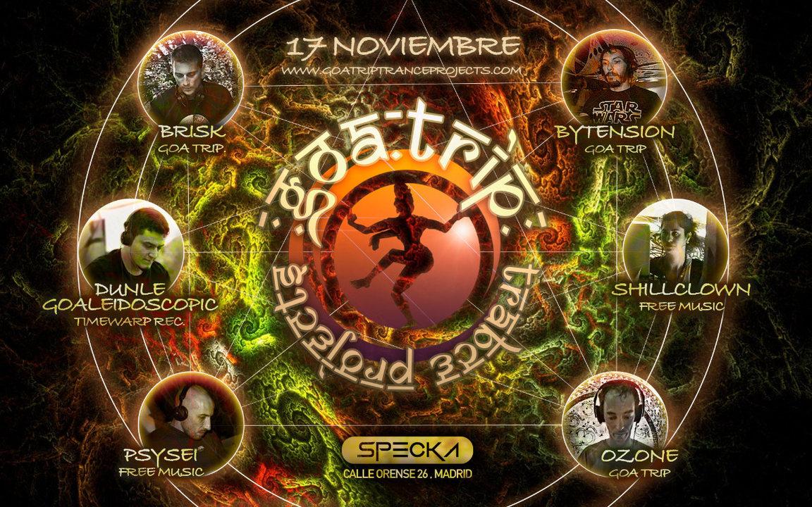 Party Flyer GOA TRIP - 17 Nov @ Specka club 17 Nov '18, 23:30