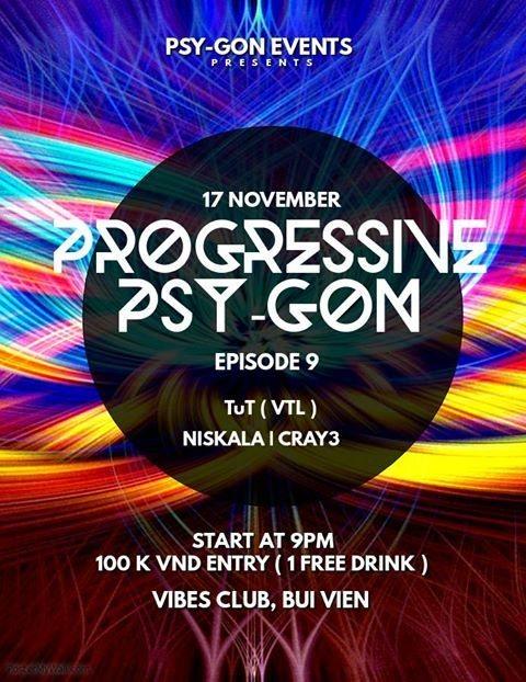 Party Flyer Progressive Psy-Gon Episode 9 17 Nov '18, 21:00