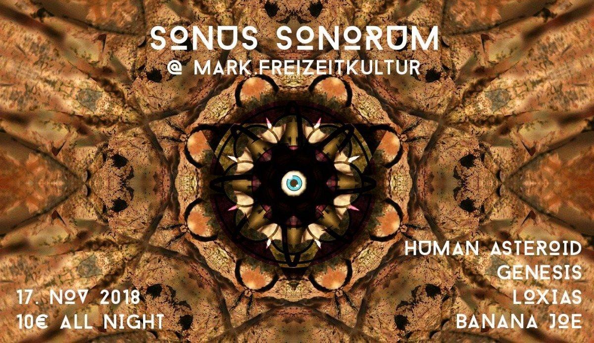 Party Flyer Sonus Sonorum Pres. Human Asteroid 17 Nov '18, 22:00