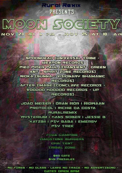 Party Flyer Moon Society - OpenAir 23 Nov '18, 18:00