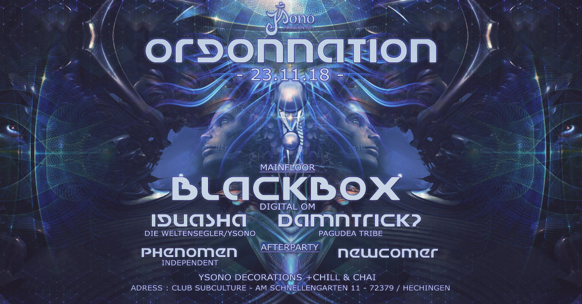Orgonnation 23 Nov '18, 22:00