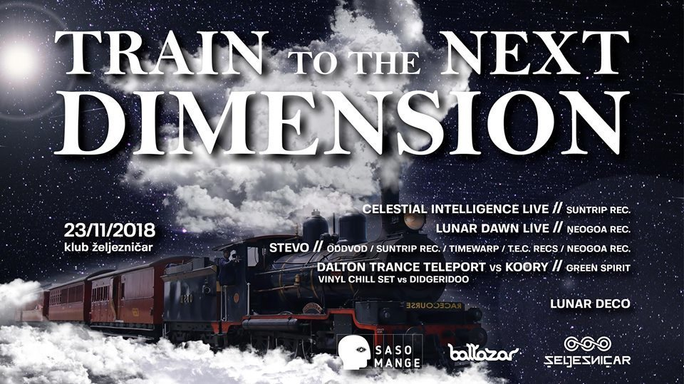 Party Flyer TRAIN TO THE NEXT DIMENSION 23 Nov '18, 22:00