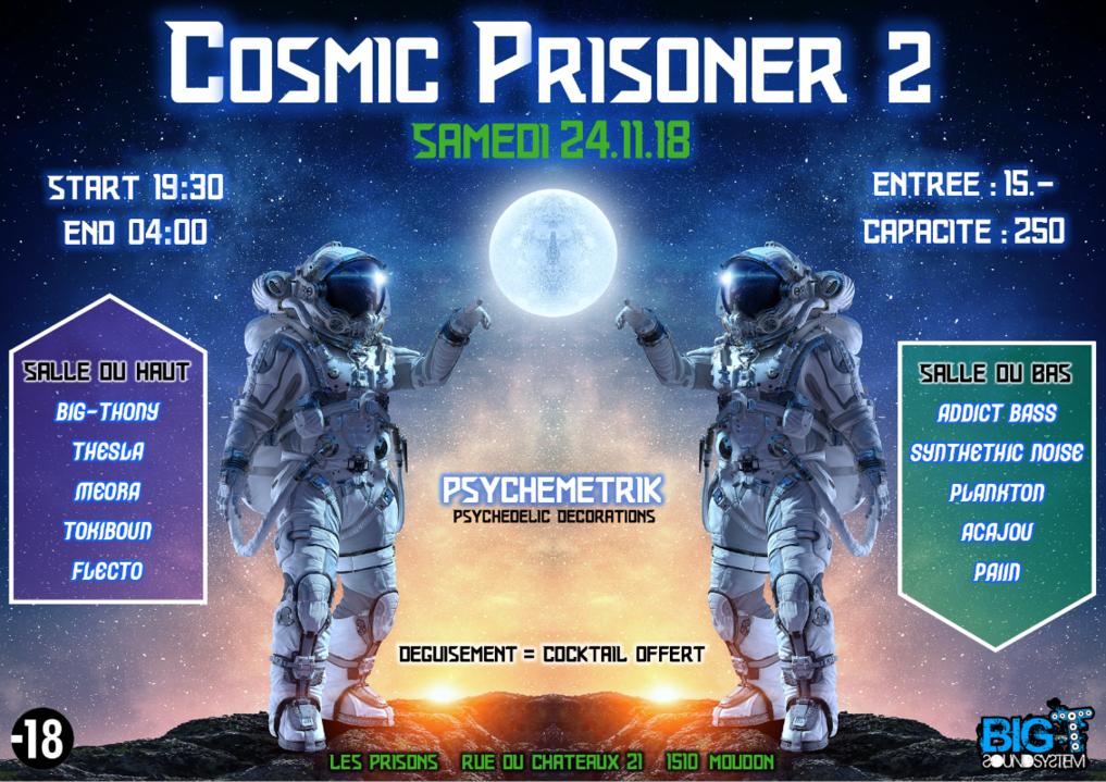 Party Flyer Cosmic Prisoner 2 24 Nov '18, 19:00