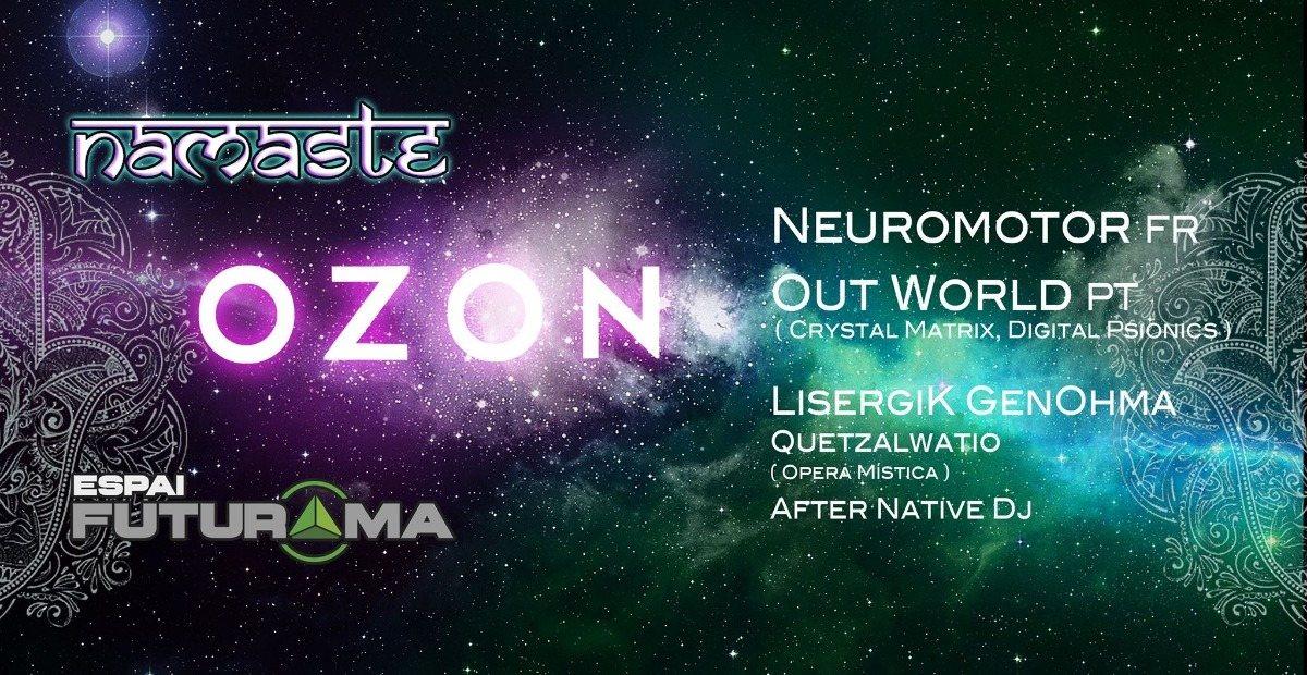 Party Flyer Namaste & OZON in EspaiFuturama 24 Nov '18, 21:30