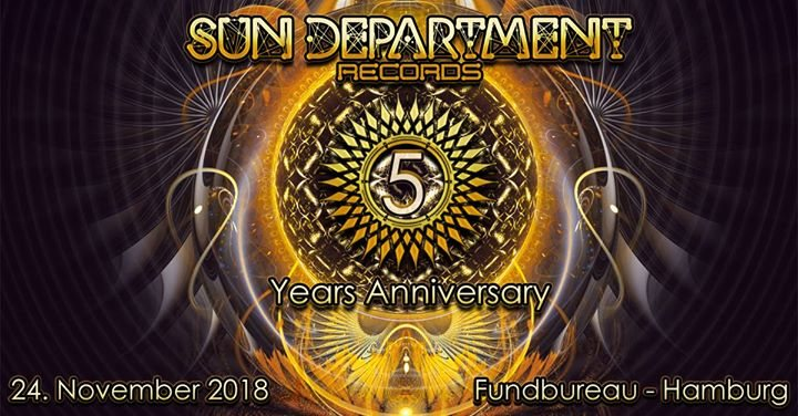 Party Flyer Sun Department Label Night - 5 Years Anniversary 24 Nov '18, 22:00