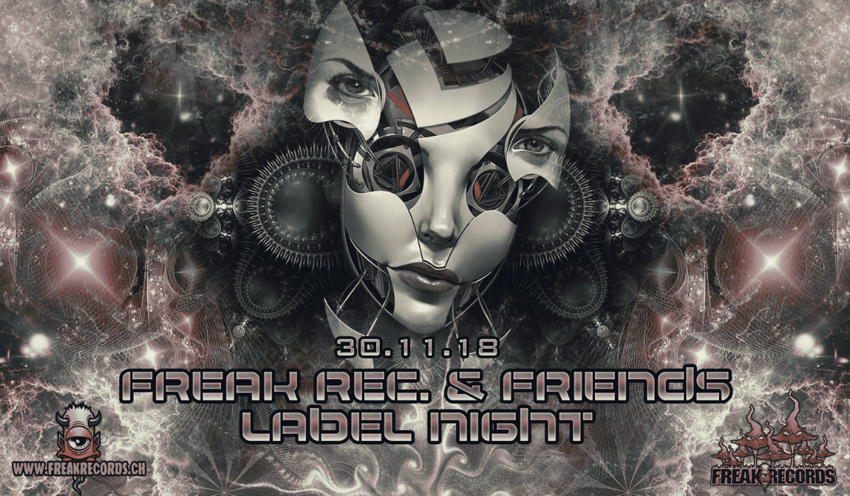 Party Flyer FreakRec. and Friends Label Night 30 Nov '18, 23:00