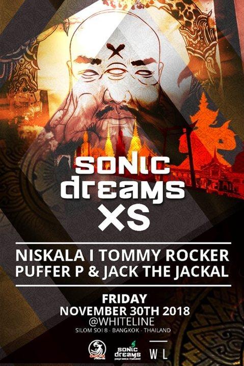 Party Flyer Sonic Dreams XS 30 Nov '18, 21:00