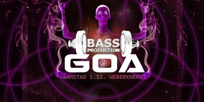 Party Flyer Bassproduction Goa Party 1 Dec '18, 23:00