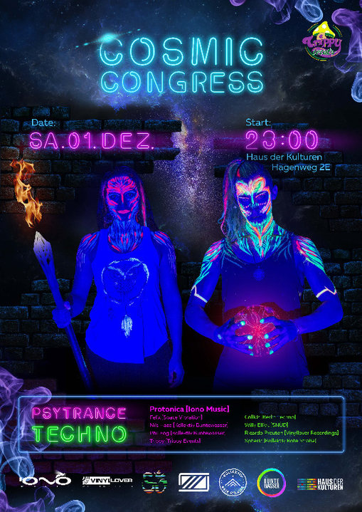 Party Flyer Cosmic Congress | with Protonica 1 Dec '18, 23:00