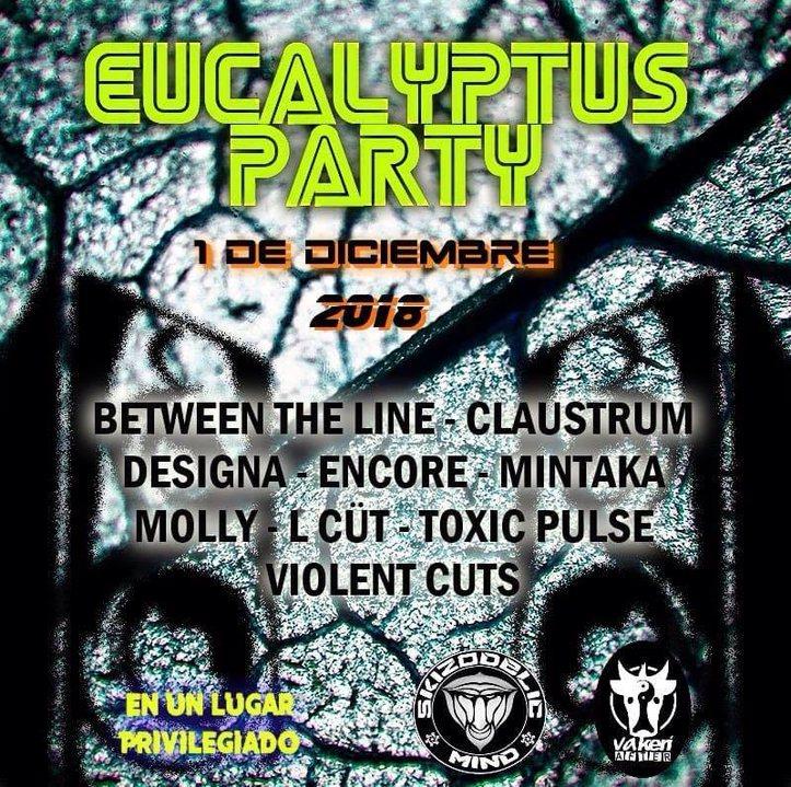 Party Flyer Eucalyptos Party By Skizodelic - Vaquería 1 Dec '18, 22:00