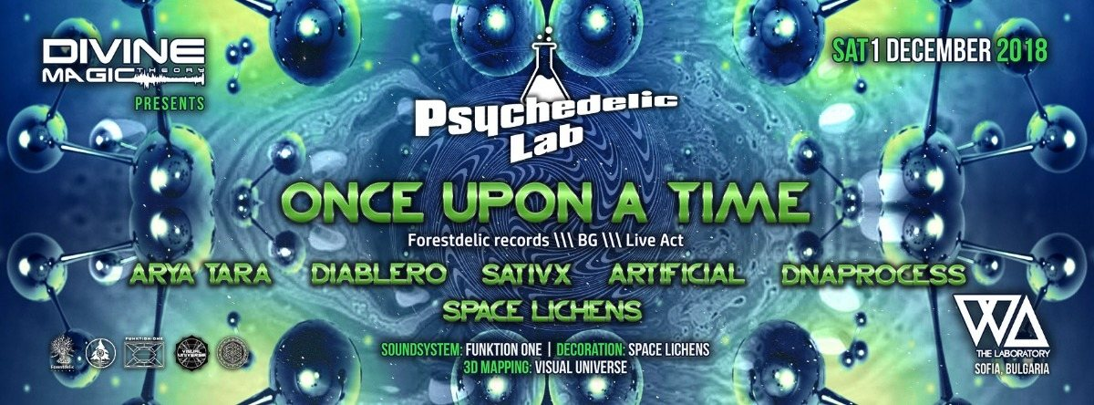Party Flyer Psychedelic Lab 1 Dec '18, 22:00