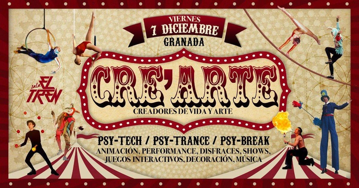 Party Flyer Cre'Arte 7 Dec '18, 23:30