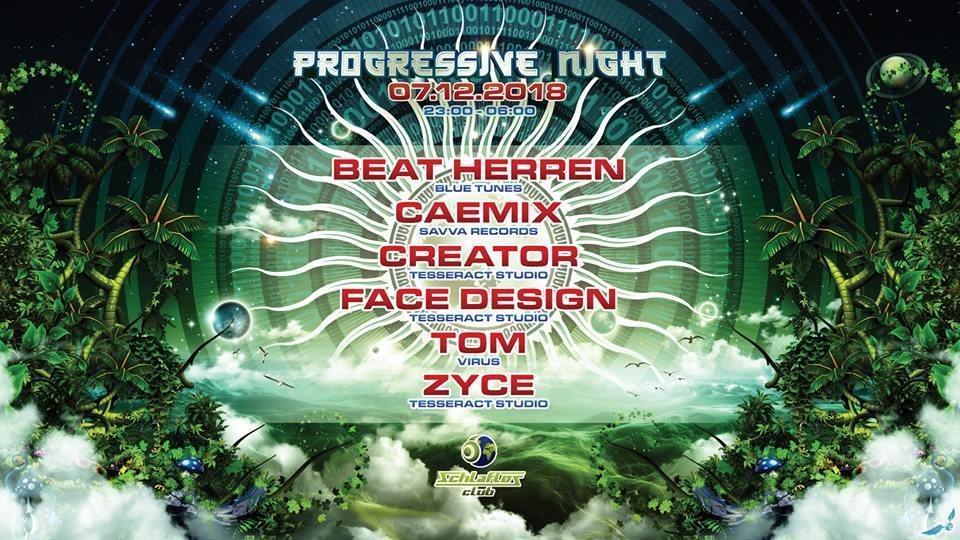 Party Flyer Progressive Night mit Zyce 7 Dec '18, 22:00