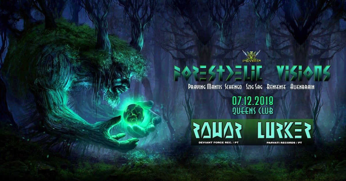 Party Flyer Psybox - Forestdelic Visions with RAWAR & LURKER *live 7 Dec '18, 22:00